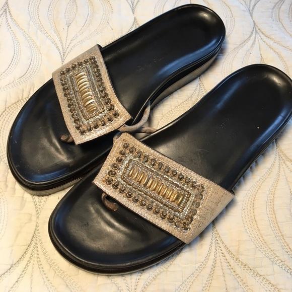 "e688163a878 Donald Pliner Shoes - Donald J. Pliner ""Fifi"" beaded metallic sandals"
